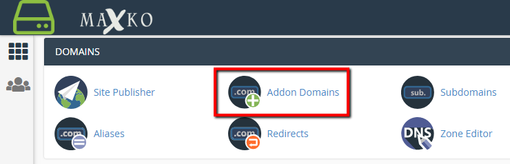 CPanel Add Domain